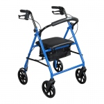 "Drive Medical Steel Walker Rollator with 8"" Wheels, Blue"