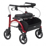 Drive Medical Arc Lite Rollator, Red