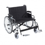 "Drive Medical Sentra EC Heavy Duty Extra Wide Wheelchair, Detachable Desk Arms, Swing away Footrests, 28"" Seat"