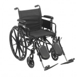 "Drive Medical Cruiser X4 Lightweight Dual Axle Wheelchair with Adjustable Detachable Arms, Desk Arms, Elevating Leg Rests, 20"" Seat"