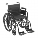 "Drive Medical Cruiser X4 Lightweight Dual Axle Wheelchair with Adjustable Detachable Arms, Desk Arms, Swing Away Footrests, 20"" Seat"
