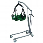 "Hydraulic Powered Patient Lift - 4 point cradle - with 5"" casters"