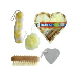Heart Boxed Bath Gift Set