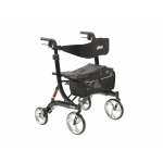 Drive Medical Nitro Euro Style Walker Rollator, Heavy Duty, Black