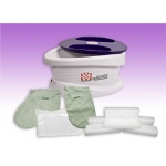 WaxWel® Paraffin Bath - Standard Unit Includes: 100 Liners, 1 Mitt, 1 Bootie and 6 lb Lavender Paraffin