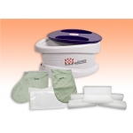 WaxWel® Paraffin Bath - Standard Unit Includes: 100 Liners, 1 Mitt, 1 Bootie and 6 lb Peach Paraffin
