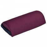 "Fabrication Enterprises Mini Half Round Bolster: Burgundy, 13"" L x 6"" Dia"