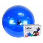 "CanDo® Inflatable Exercise Ball - Blue - 34"" (85 cm), Retail Box"