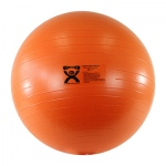 "CanDo® Inflatable Exercise Ball - Extra Thick - Orange - 22"" (55 cm)"