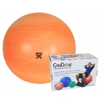 "CanDo® Inflatable Exercise Ball - Extra Thick - Orange - 22"" (55 cm), Retail Box"