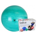"CanDo® Inflatable Exercise Ball - Extra Thick - Green - 26"" (65 cm), Retail Box"
