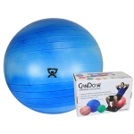 "CanDo® Inflatable Exercise Ball - Extra Thick - Blue - 34"" (85 cm), Retail Box"