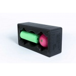 "BLACKROLL® BLOCK Set: 12""x 6"" x 4"" Black BLOCK, 6"" x 2"" Green MINI Roll, 3.2"" Pink Ball"