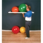 "Inflatable Exercise Ball - Accessory - PVC Wall Rack, 64"" x 18"" x 2"", 1 Shelf"