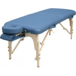 "Deluxe massage table, 76"" L x 30"" W x 23"" - 33"" H"