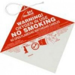 Allied Healthcare No Smoking Warning Sign, 100/pk