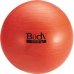 BodySport Fitness Ball with Slow Air Release, 75 cm, Red