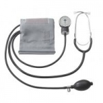 A&D Medical Home Blood Pressure Kit with Attached Stethescope