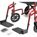 E & J Front Rigging for Transport Chair, Red, Pair
