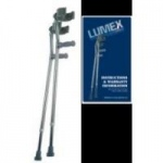 Lumex Deluxe Forearm Crutches, Latex, Large, Pair