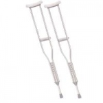 Drive Walking Crutches with Underarm Pad and Handgrip, Tall Adult, Pair