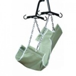 Lumex 2-Point Slings, with Commode Opening, Heavy Duty Canvas Fabric