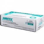 AMBITEX Non-Sterile Powder Free General Purpose Latex Glove, Medium, 100/Bx