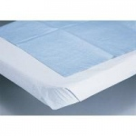 "Disposable Stretcher Sheets Tissue/Poly, Blue, 40"" x 72"", 50/cs"
