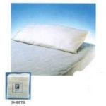 "Disposable Bed Sheets Tissue / Poly, White 58"" x 96"", 25/cs"