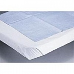 "Disposable Bed Sheets Tissue / Poly, White 58"" x 102"", 25/cs"