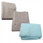 "Dynarex Disposable Blue Non-Woven Blanket, 44""x84"", 30/cs"