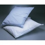 Disposable Pillow Covers, Tissue / Poly, Blue 21 x 30, 100/cs