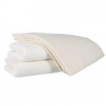 "Medline Bath Blankets, Unbleached, 70"" x 90"", Case of 24"