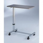 Blickman Overbed Table, Oak And Chrome