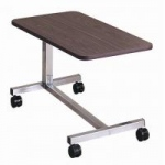 "Brewer Low ""H"" Base Overbed Table, Walnut"