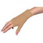 Juzo DreamSleeve Compression Gauntlet with Thumb Stub, Medium, Beige