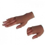 Juzo Basic Opaque Women's Gauntlet with Thumb Stub, Medium, Beige