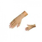 Juzo Basic Hand Gauntlet with Finger Stubs, Medium, Beige