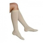 Juzo Basic Ribbed Compression Socks, Size 3 Regular, Khaki, Pair
