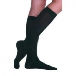 Juzo Dynamic Knee High Full Foot Compression Stockings, Size 4 Short, Black, Pair