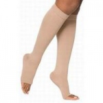 Juzo Basic Knee High Compression Stockings, Size 1 Regular, Beige, Pair