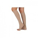 Juzo Basic Knee High Open Toe Compression Stockings, Size 2 Regular, Beige, Pair