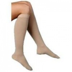 Juzo Basic Knee High Open Toe Compression Stockings, Size 3 Regular, Beige, Pair