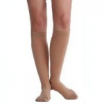 Juzo Attractive Women's Knee High Moderate Compression Stockings, Size 3 Medium, Vanilla, Pair
