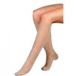Juzo Basic Knee High Latex Free Compression Stockings, Size 4 Regular, Beige, Pair