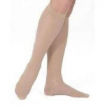 Juzo Basic Knee High Unisex Full Foot Compression Stockings, Size 4 Regular, Beige, Pair
