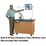 Diversified Woodcrafts Mobile Science Desk with Camera Mount