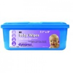 Dynarex Baby Wipe, Lightly Scented, Flat Pack Tubs, 12 Tubs/Cs