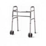 Medline Bariatric Folding Walker with 5 inch Dual Wheels, Extra-Wide, Each