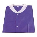Dynarex Disposable Lab Jacket with Three Pockets, Purple, Large, 30/cs